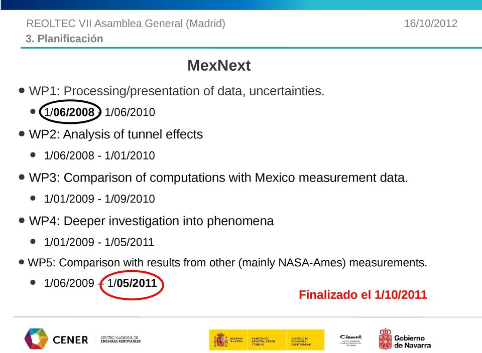 1/06/2008-1/01/2010 WP3: Comparison of computations with Mexico measurement data.