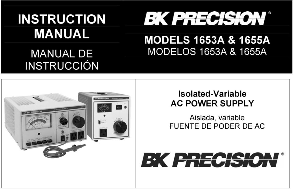 MODELOS 1653A & 1655A Isolated-Variable