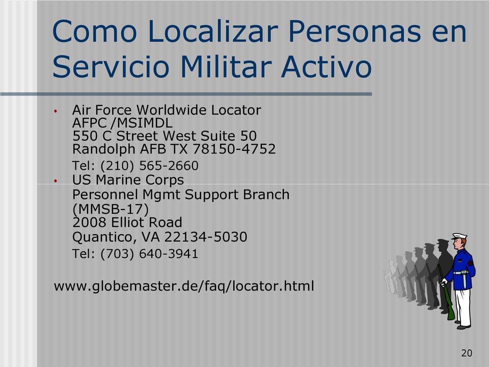 565-2660 US Marine Corps Personnel Mgmt Support Branch (MMSB-17) 2008 Elliot