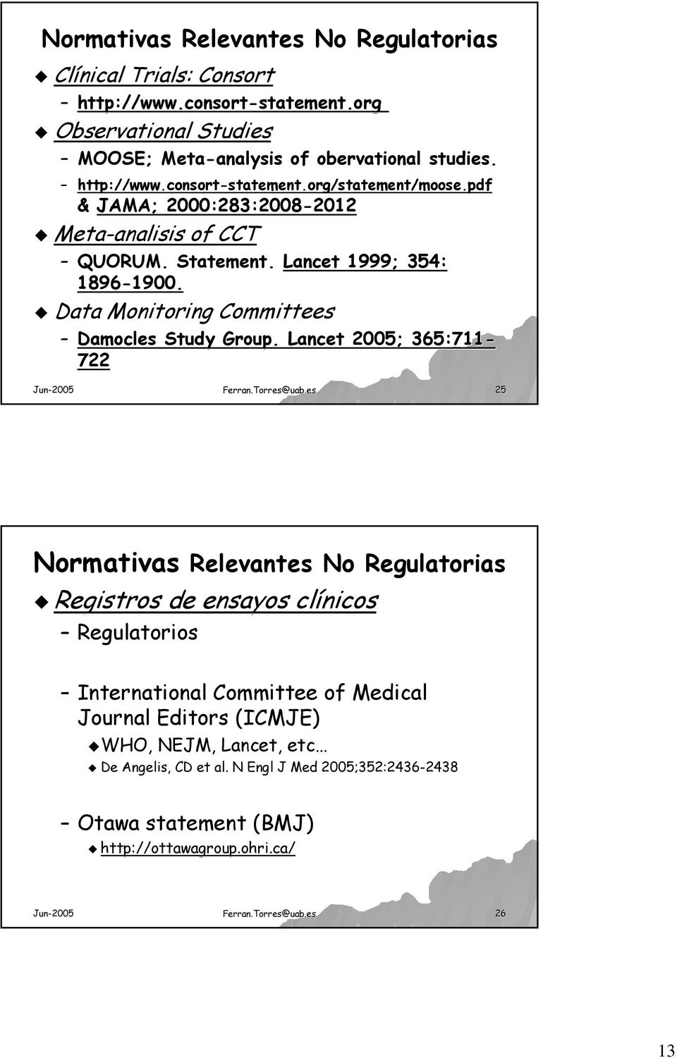 Data Monitoring Committees Damocles Study Group. Lancet 2005; 365:711-722 Ferran.Torres@uab.