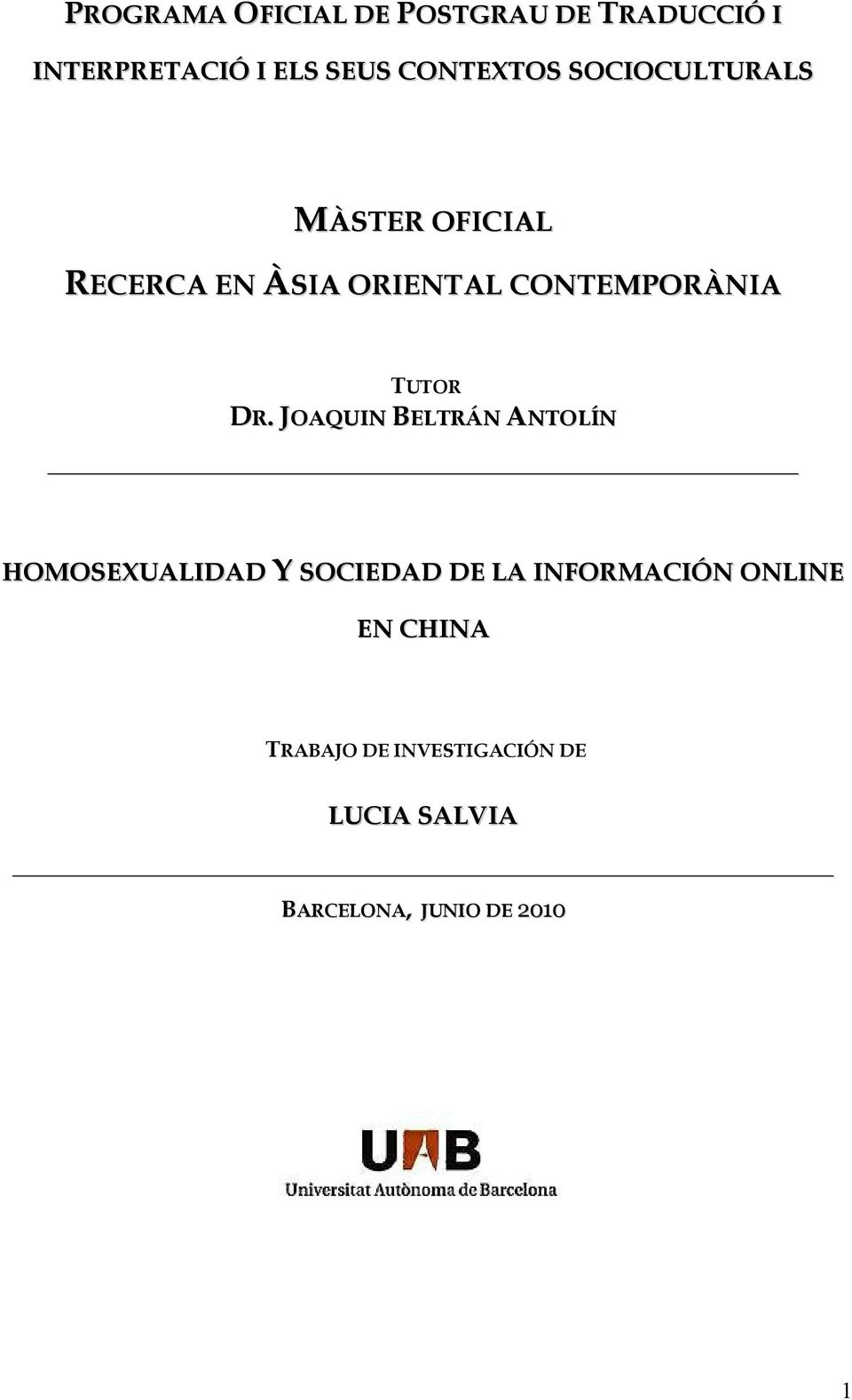 CONTEMPORÀNIA TUTOR DR.