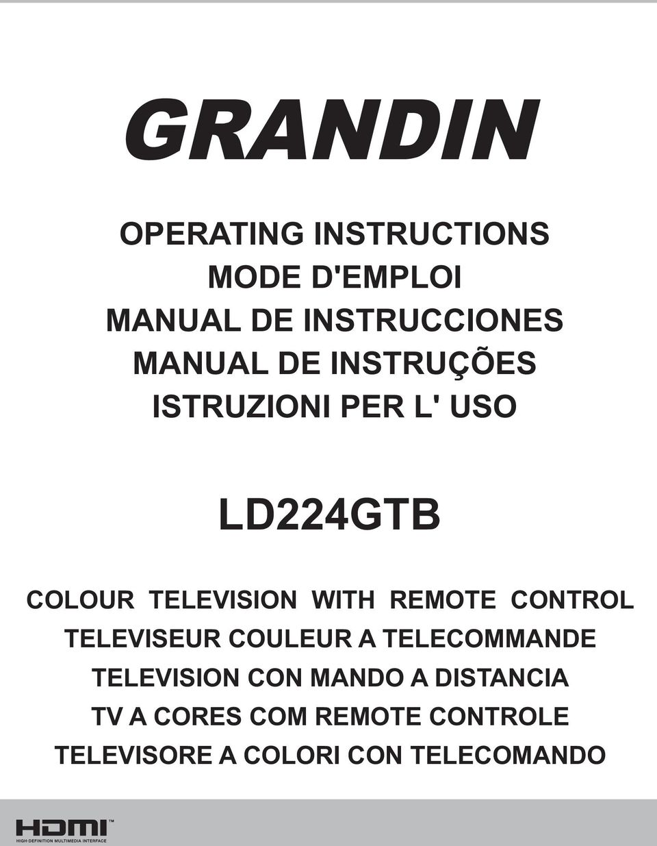 WITH REMOTE CONTROL TELEVISEUR COULEUR A TELECOMMANDE TELEVISION CON
