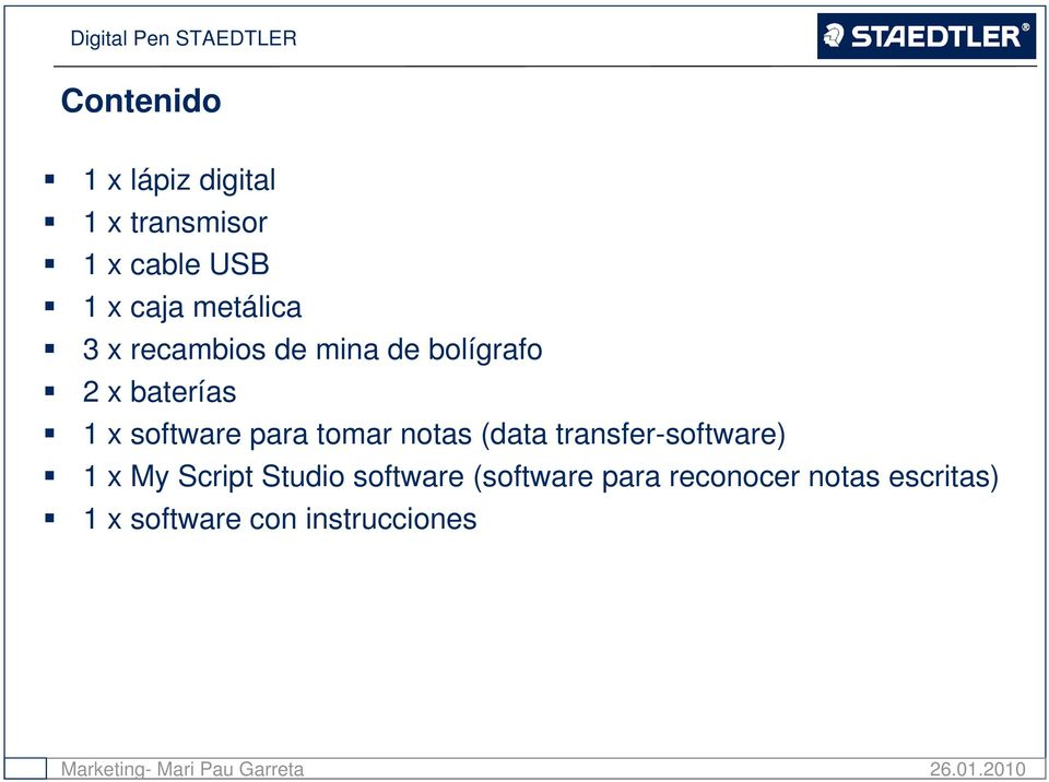 para tomar notas (data transfer-software) 1 x My Script Studio