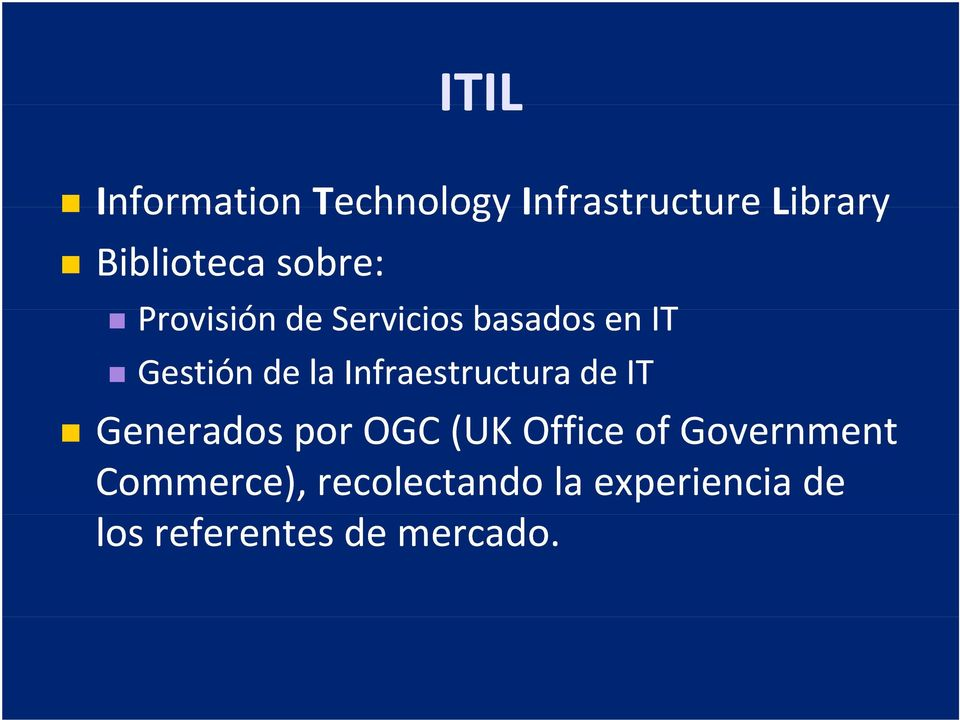 Infraestructura de IT Generados por OGC (UK Office of Government