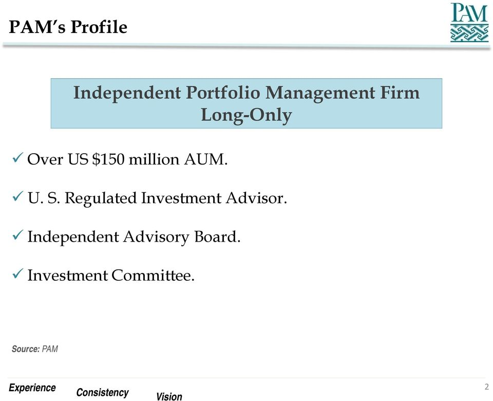 Regulated Investment Advisor.