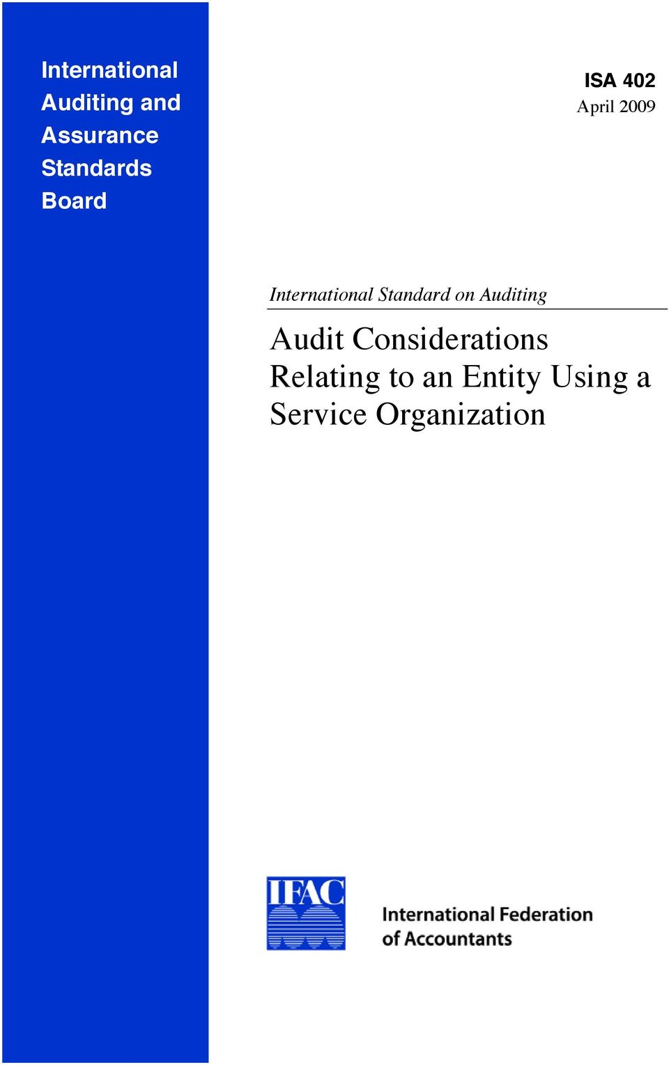 Standard on Auditing Audit Considerations