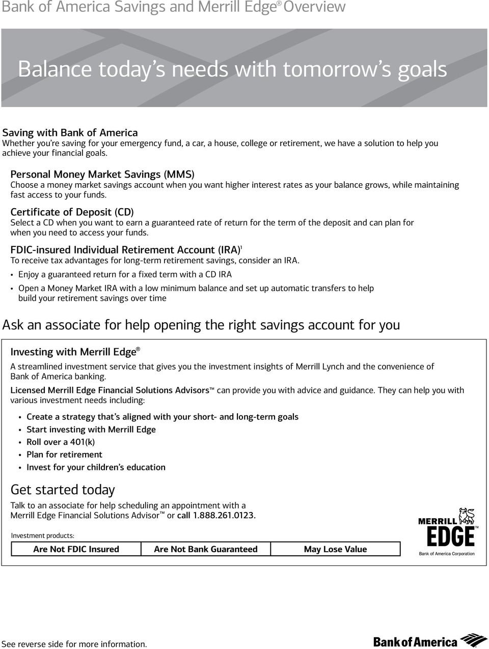 Personal Money Market Savings (MMS) Choose a money market savings account when you want higher interest rates as your balance grows, while maintaining fast access to your funds.