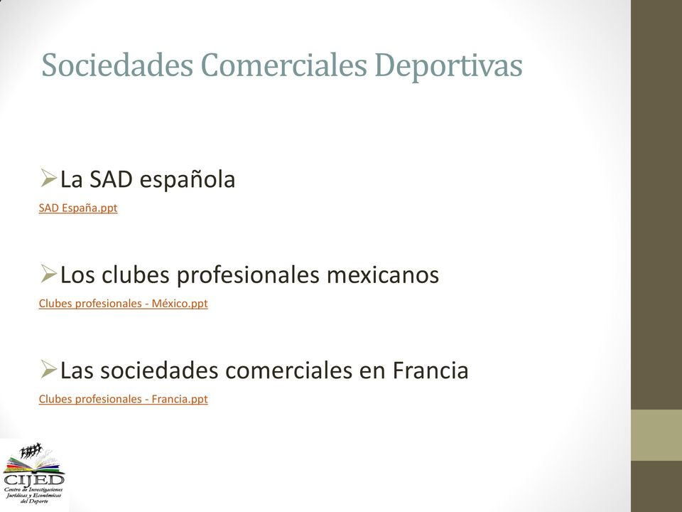 ppt Los clubes profesionales mexicanos Clubes