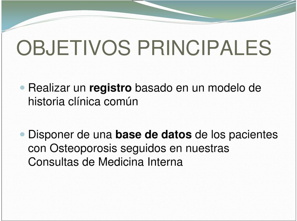 una base de datos de los pacientes con