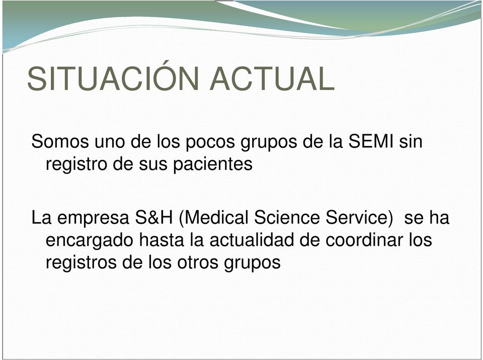 (Medical Science Service) se ha encargado hasta la