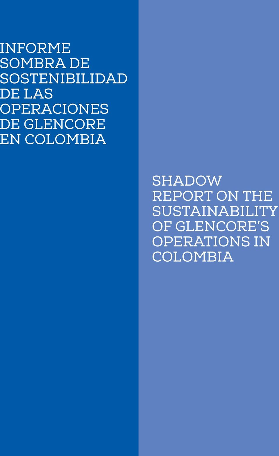COLOMBIA SHADOW REPORT ON THE