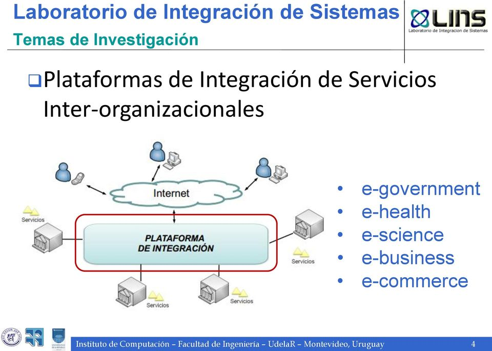 e-government e-health e-science e-business e-commerce Instituto
