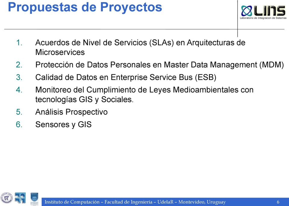 Calidad de Datos en Enterprise Service Bus (ESB) 4.