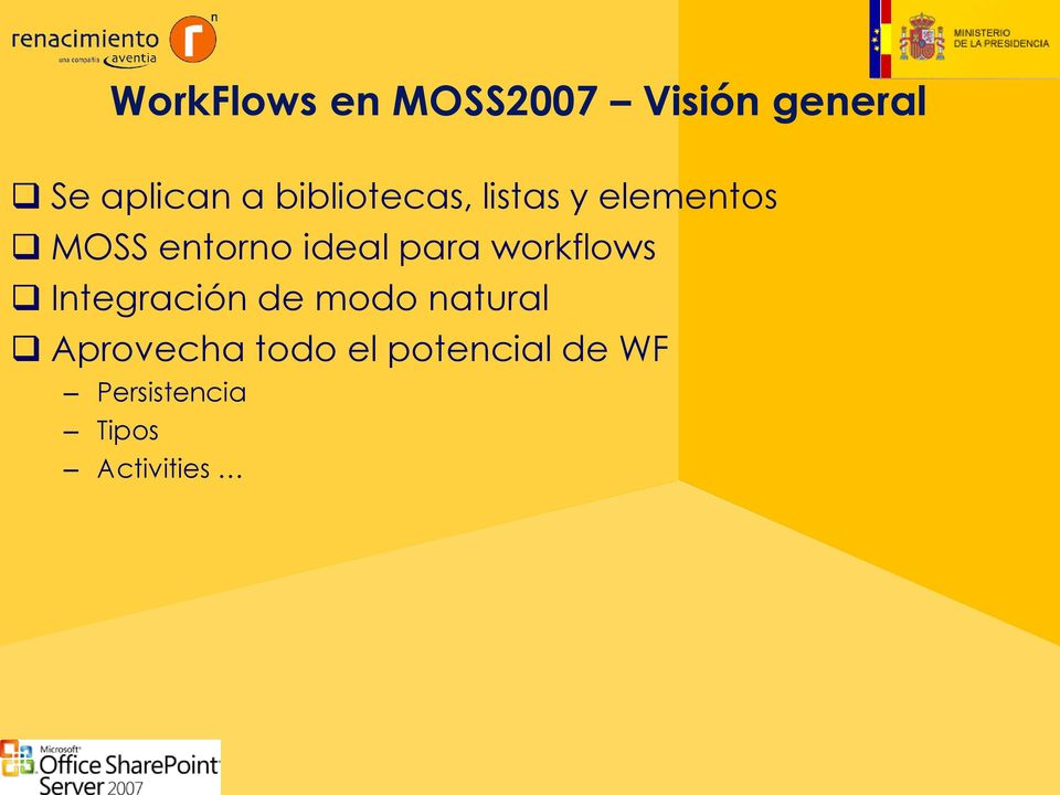 para workflows Integración de modo natural