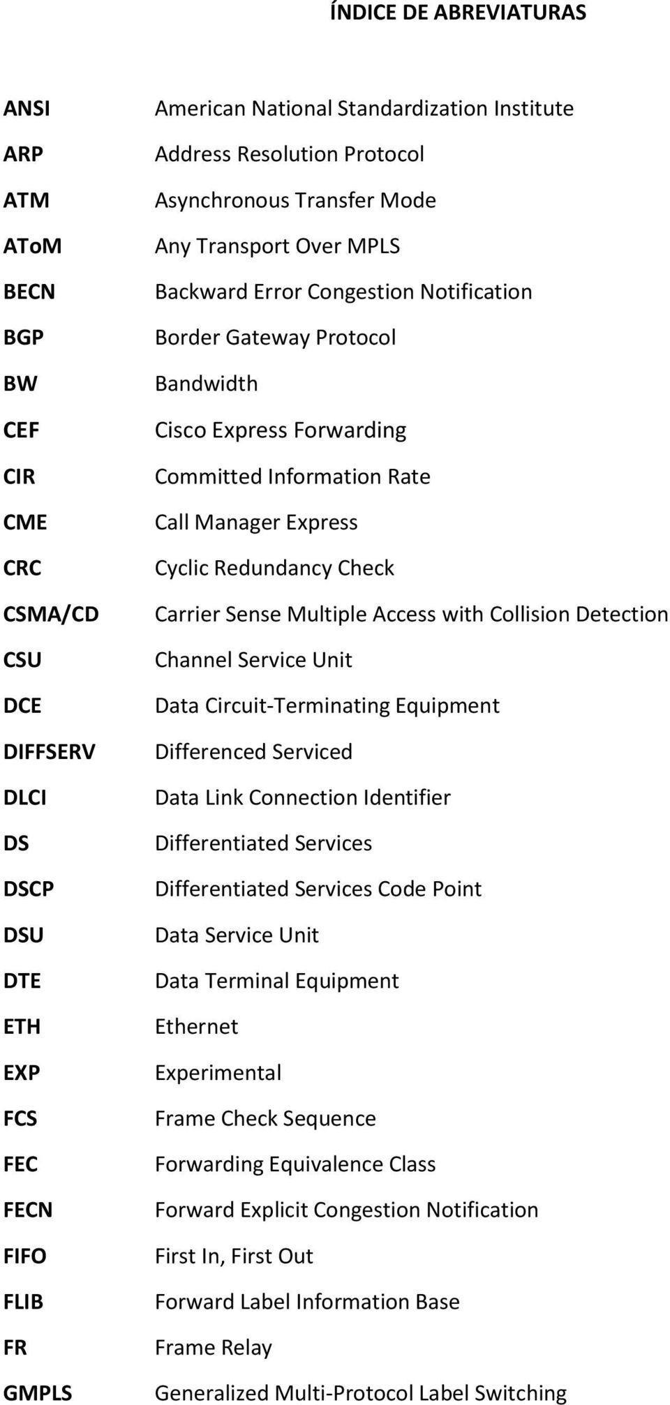 Rate Call Manager Express Cyclic Redundancy Check Carrier Sense Multiple Access with Collision Detection Channel Service Unit Data Circuit-Terminating Equipment Differenced Serviced Data Link