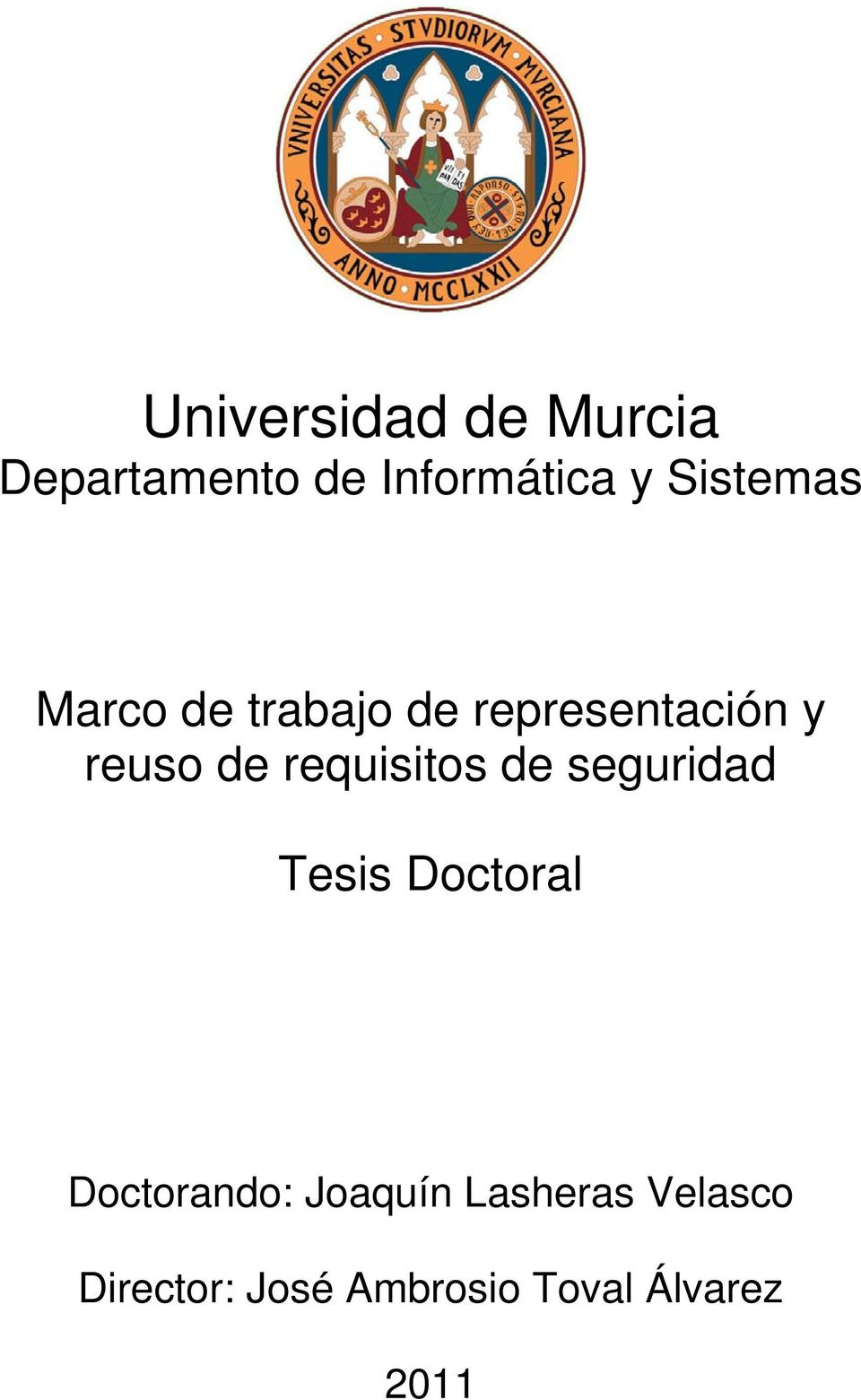 requisitos de seguridad Tesis Doctoral Doctorando: