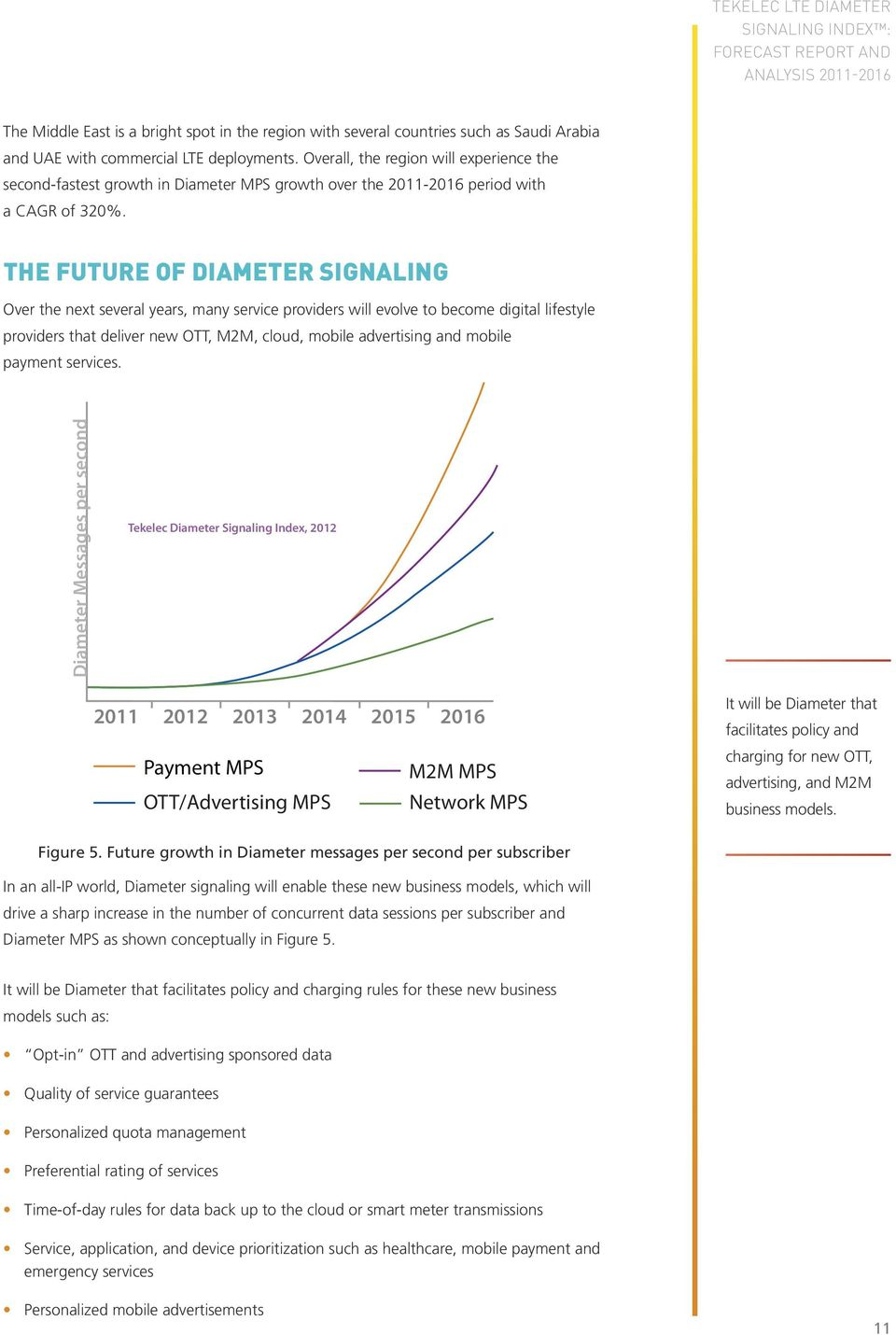 the FuturE of diameter Signaling Over the next several years, many service providers will evolve to become digital lifestyle providers that deliver new OTT, M2M, cloud, mobile advertising and mobile