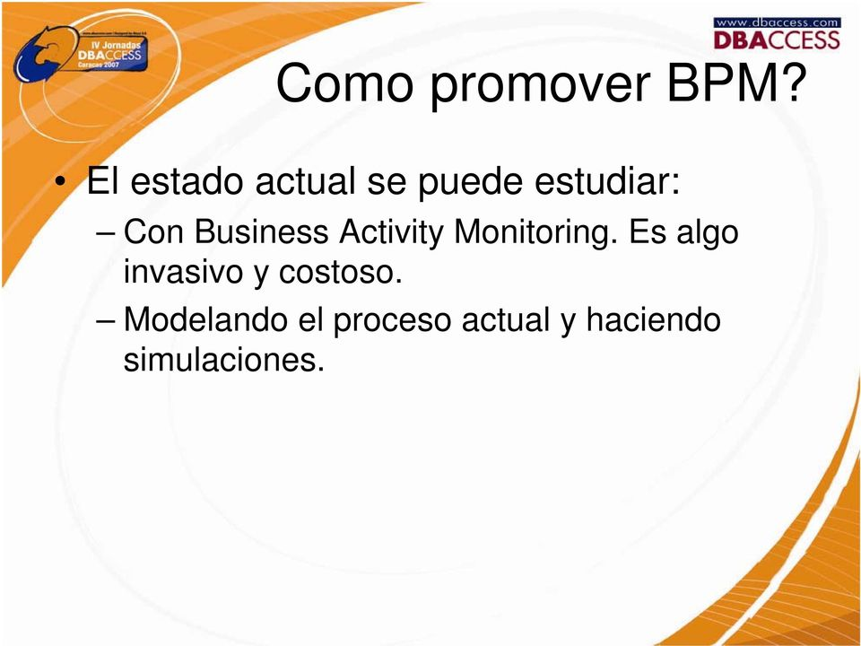 Business Activity Monitoring.