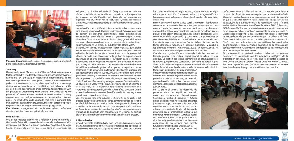 in the educational professional development.