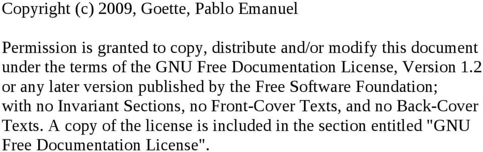 2 or any later version published by the Free Software Foundation; with no Invariant Sections, no