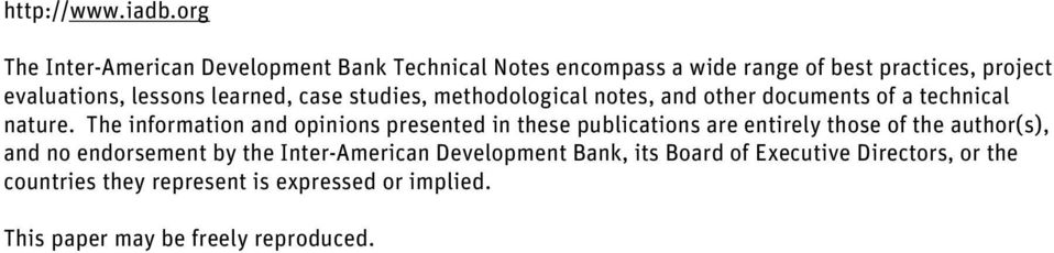 learned, case studies, methodological notes, and other documents of a technical nature.