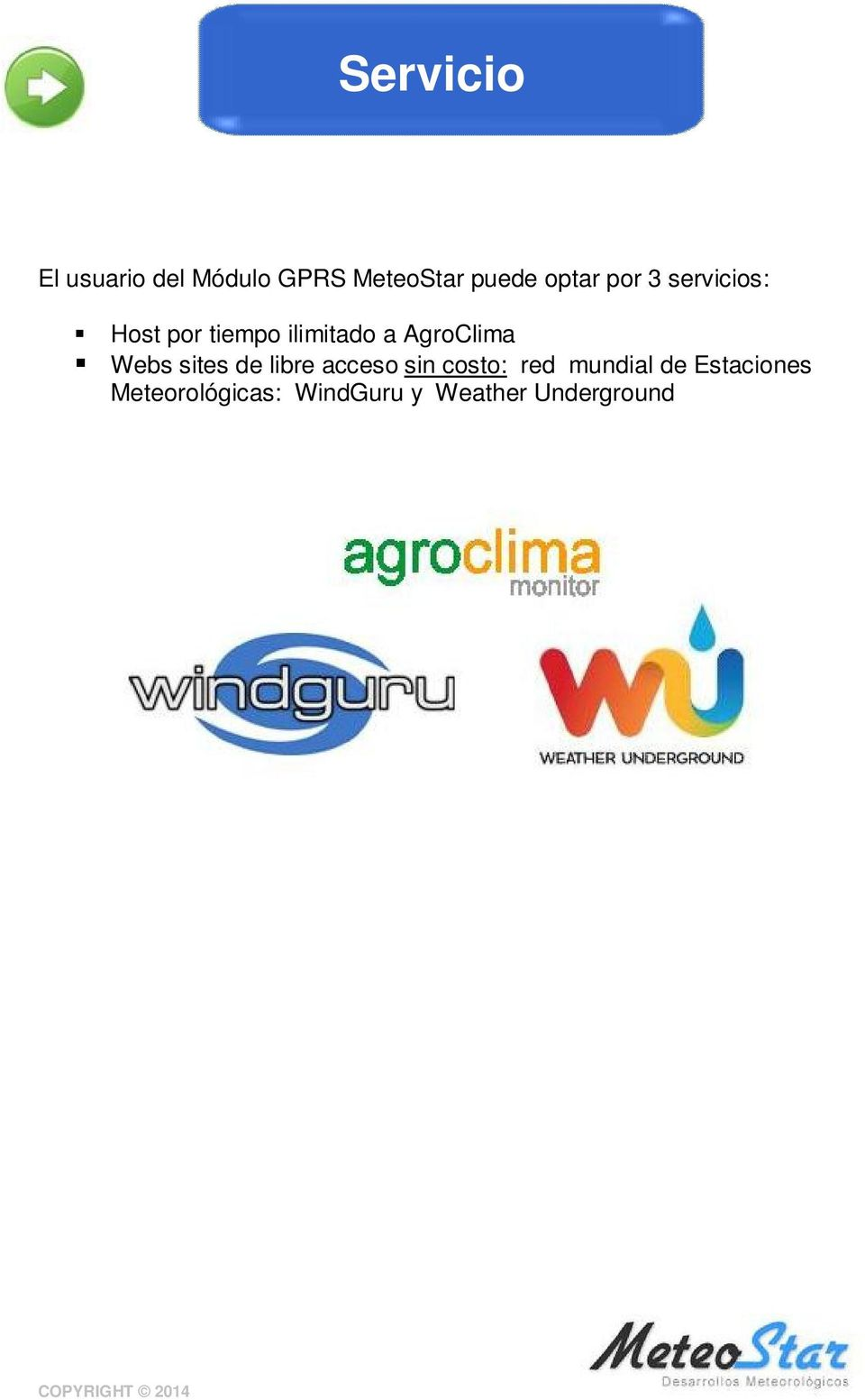 AgroClima Webs sites de libre acceso sin costo: red
