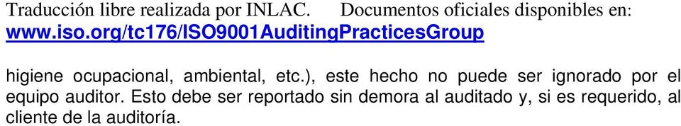 equipo auditor.