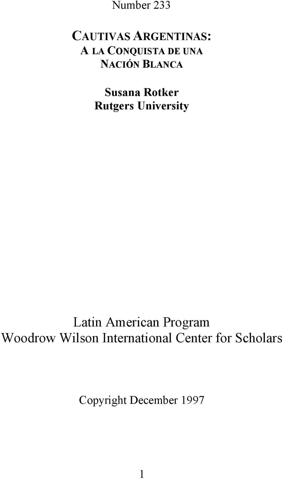 University Latin American Program Woodrow Wilson