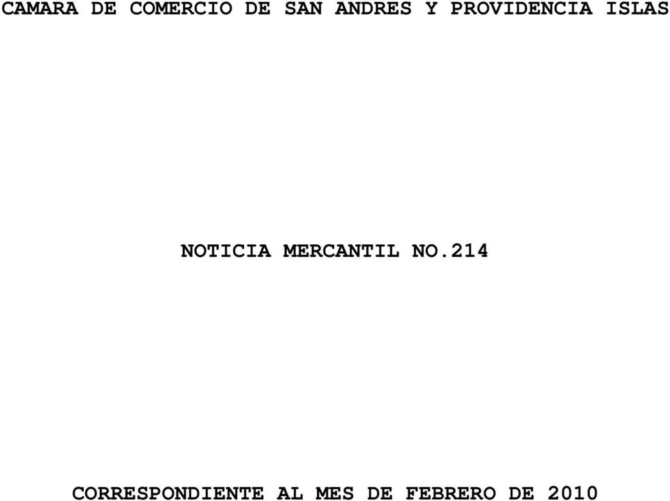 NOTICIA MERCANTIL NO.