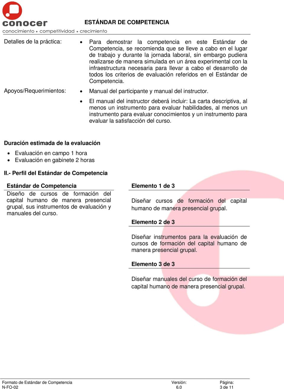Apoyos/Requerimientos: Manual del participante y manual del instructor.