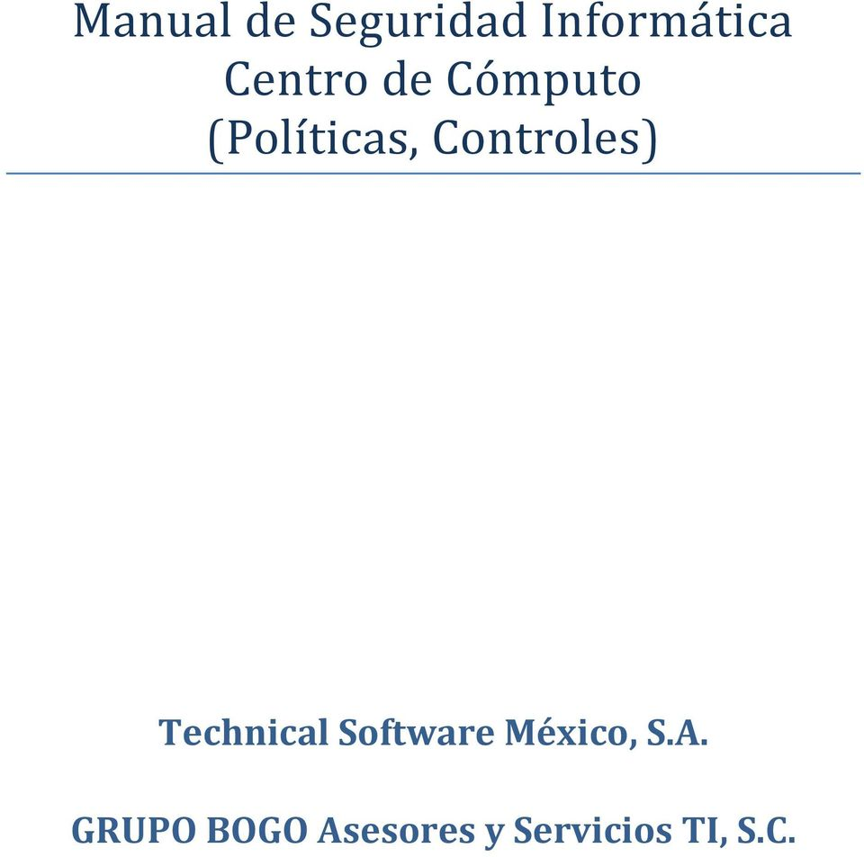 Controles) Technical Software
