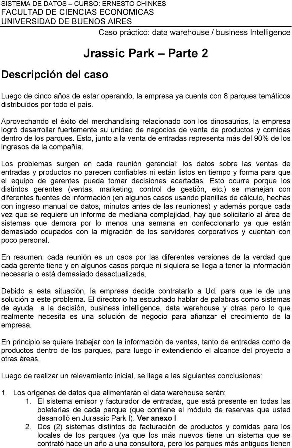 Caso práctico de una solución de data warehouse business ...