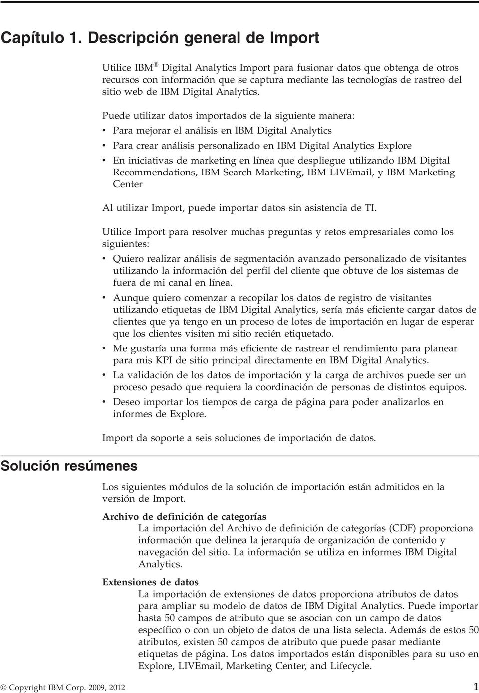 rastreo del sitio web de IBM Digital Analytics.