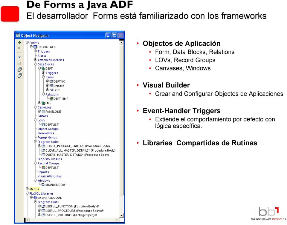 Windows Visual Builder Crear and Configurar Objectos de Aplicaciones Event-Handler