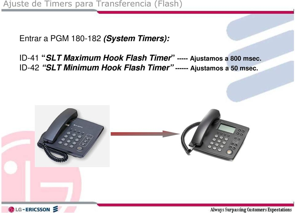 Hook Flash Timer ----- Ajustamos a 800 msec.