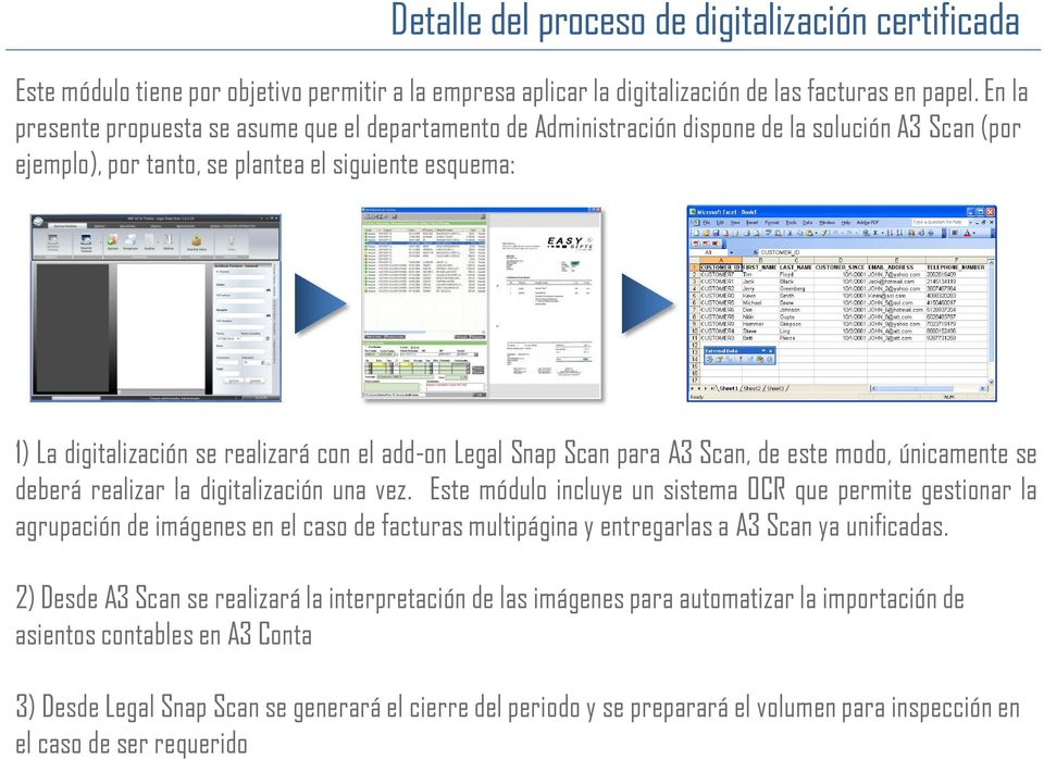 el add-on Legal Snap Scan para A3 Scan, de este modo, únicamente se deberá realizar la digitalización una vez.
