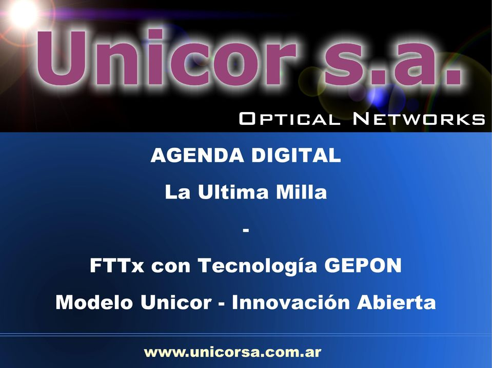 GEPON Modelo Unicor -