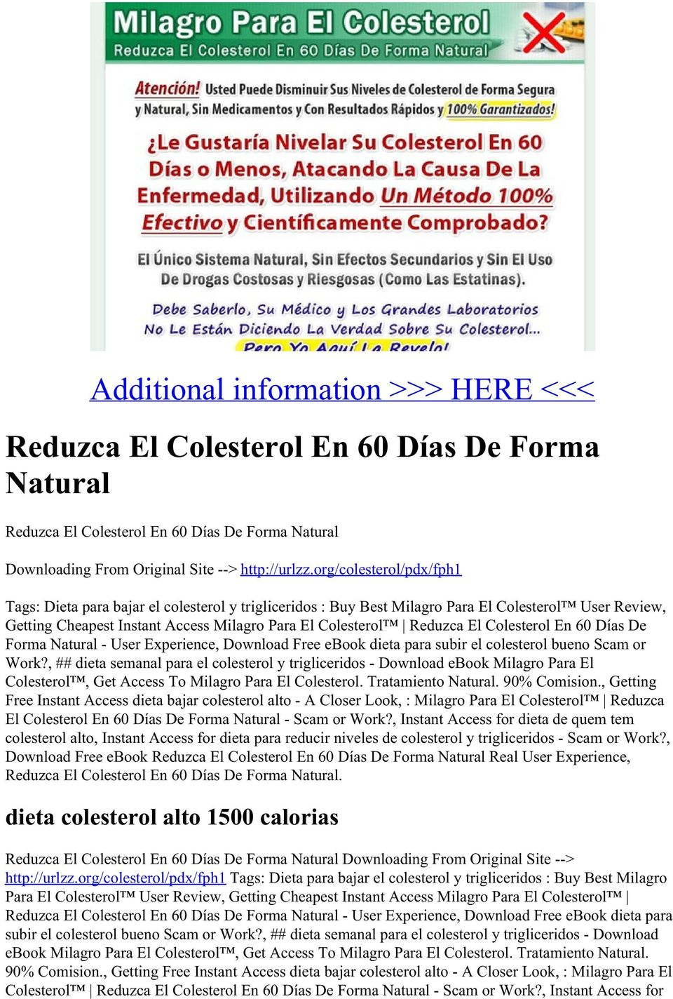 Colesterol En 60 Días De Forma Natural - User Experience, Download Free ebook dieta para subir el colesterol bueno Scam or Work?