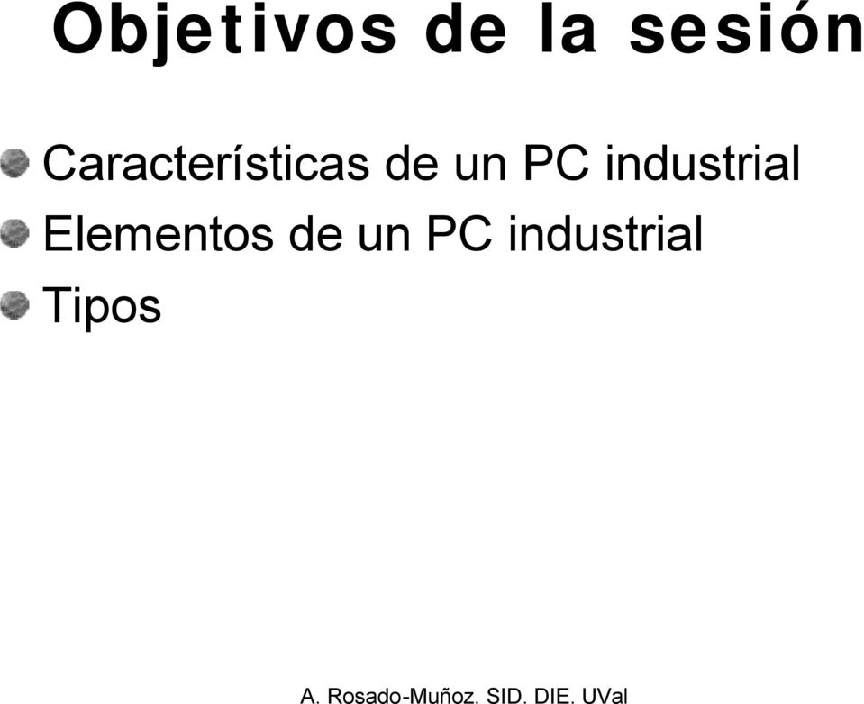 PC industrial Elementos