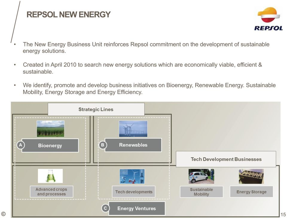 Created in April 2010 to search new energy solutions which are economically viable, efficient &