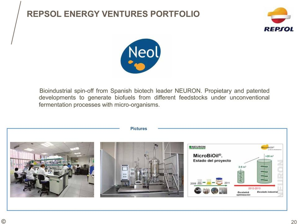 Propietary and patented developments to generate biofuels from