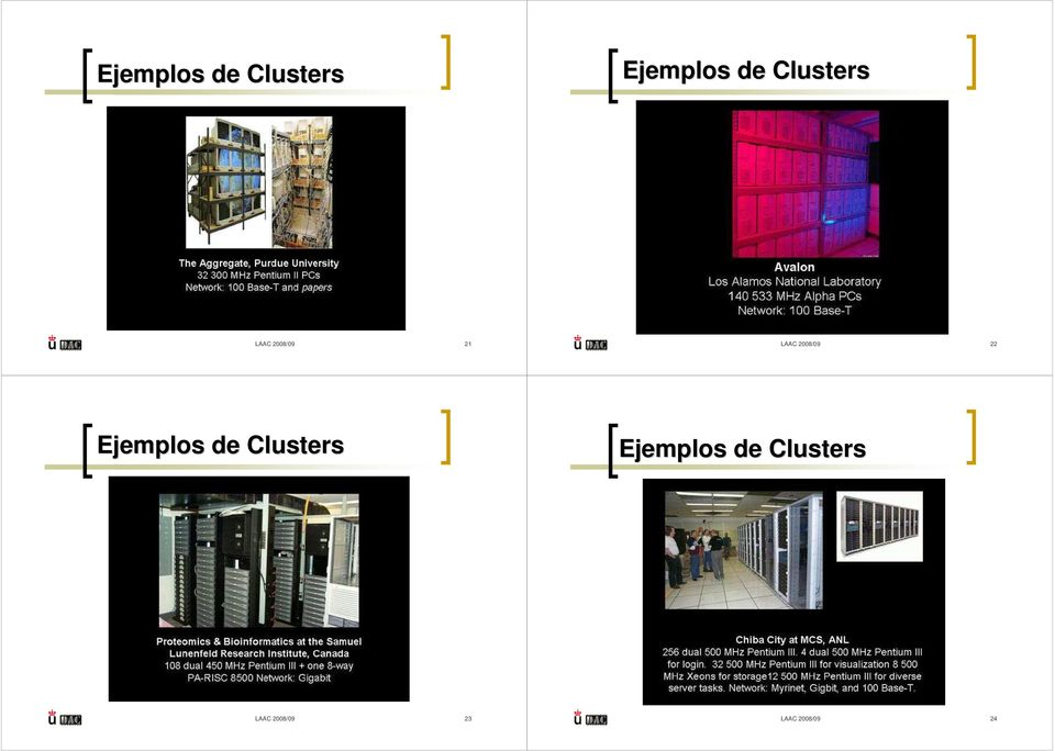 2008/09 22  Clusters LAAC 2008/09 23