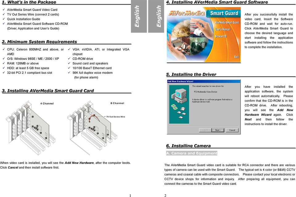 Software CD-ROM (Driver, Application and User s Guide) 22.