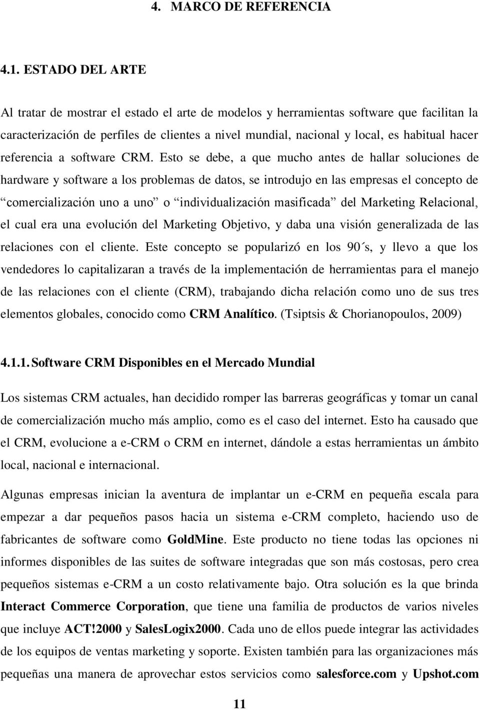 referencia a software CRM.
