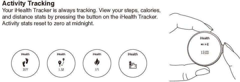 View your steps, calories, and distance stats by