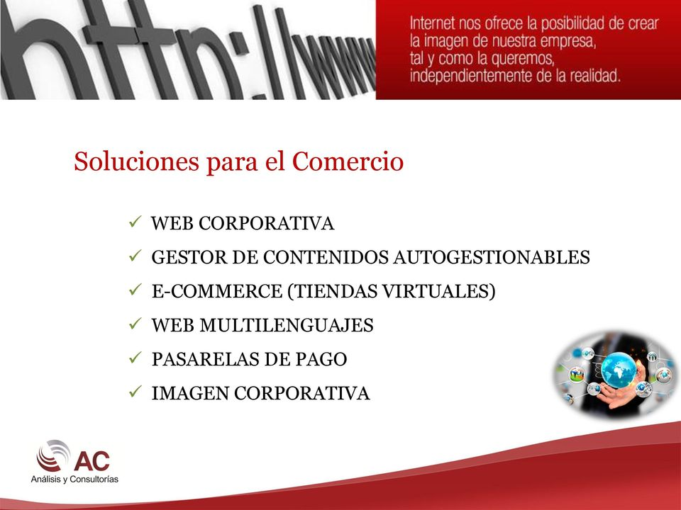 AUTOGESTIONABLES E-COMMERCE (TIENDAS