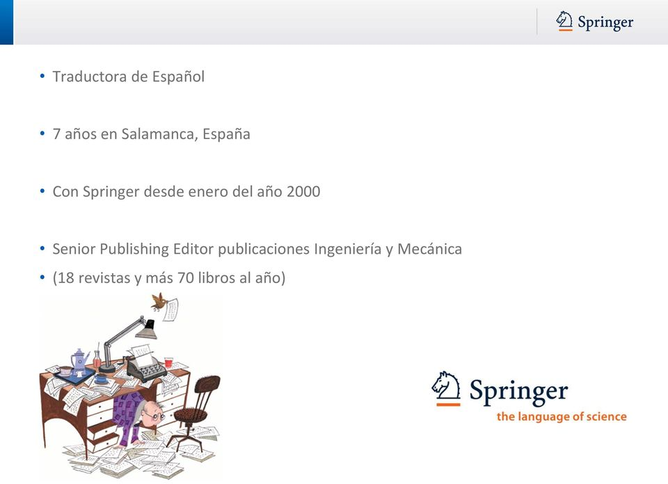 Senior Publishing Editor publicaciones