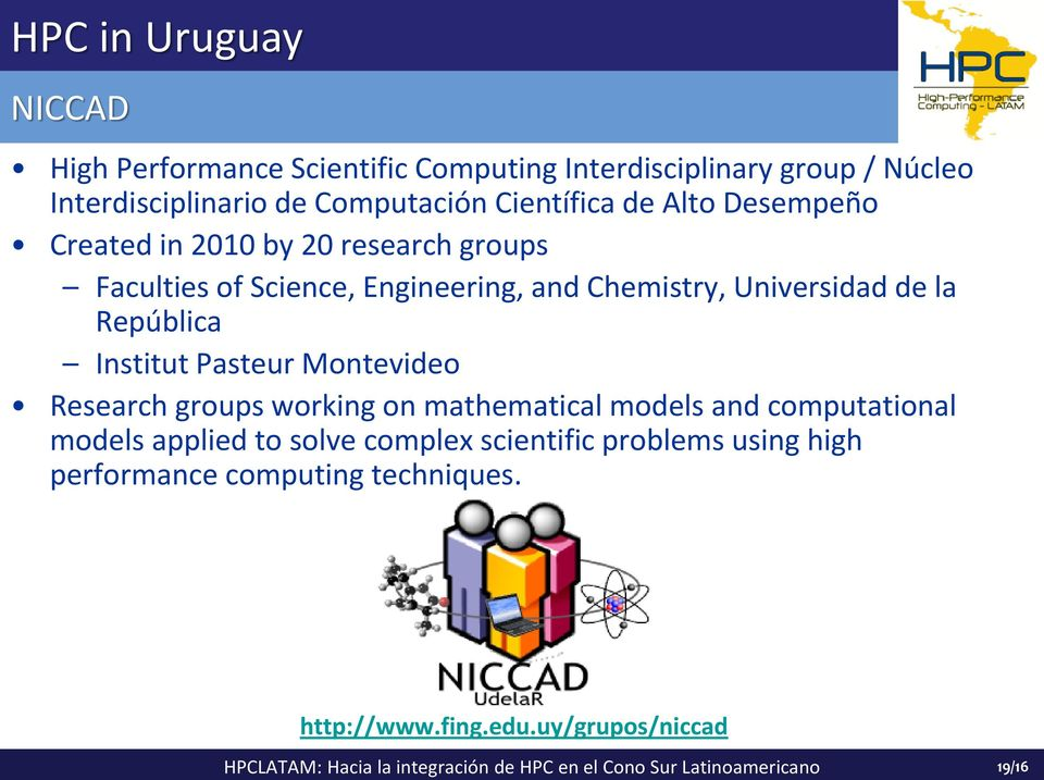 Pasteur Montevideo Research groups working on mathematical models and computational models applied to solve complex scientific problems using