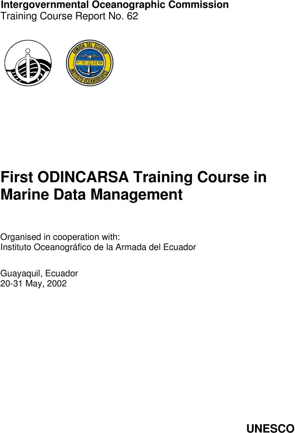 62 First ODINCARSA Training Course in Marine Data Management
