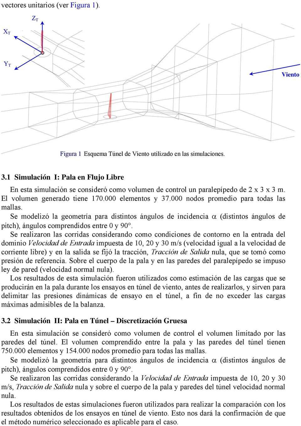 000 odos promedio para todas las mallas. Se modelizó la geometría para distitos águlos de icidecia α (distitos águlos de pitc), águlos compredidos etre 0 y 90.